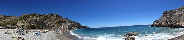 Nerja strand in Andalusie