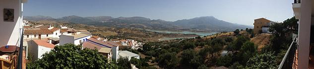 Uitzicht La Viñuela vanaf Los Romanes